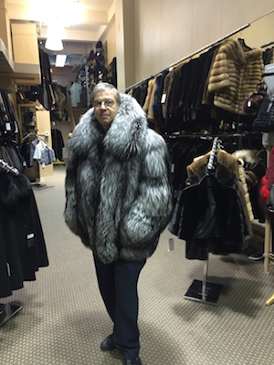 Dimitrios Furs owner Peter Dimitrios at his store (150 W. 30th St.). Photo courtesy Dimitrios Furs.
