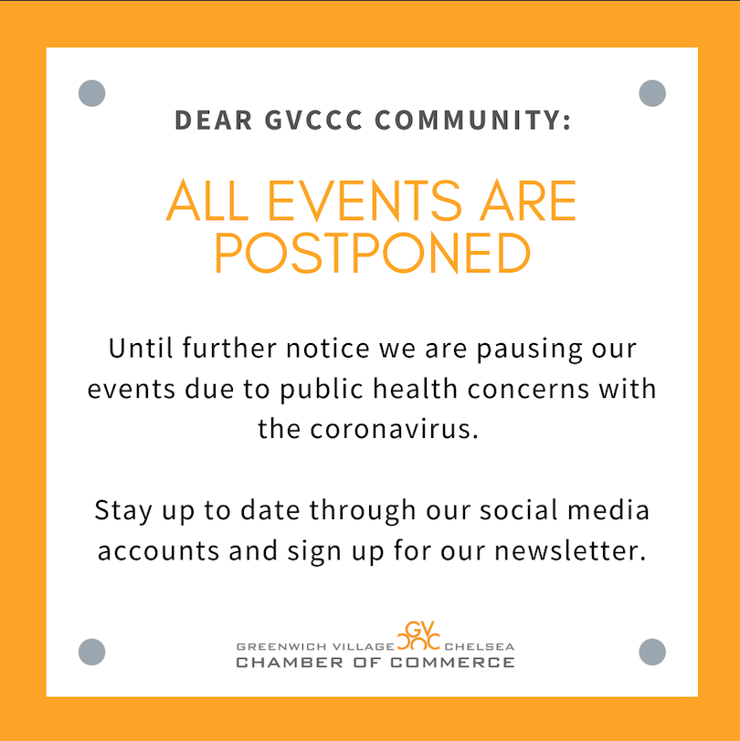 Events are postponed